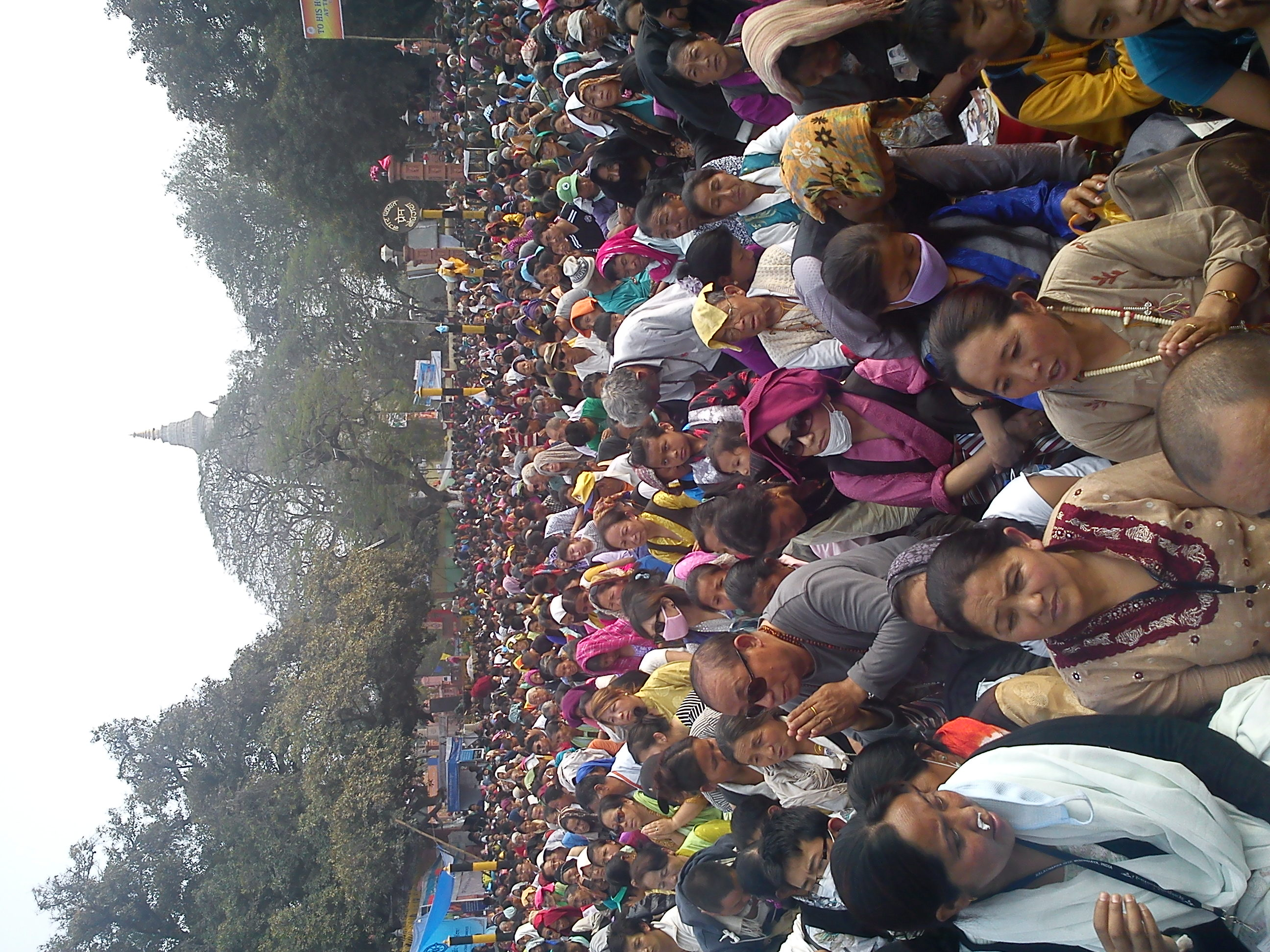 People attending the Kalachakra