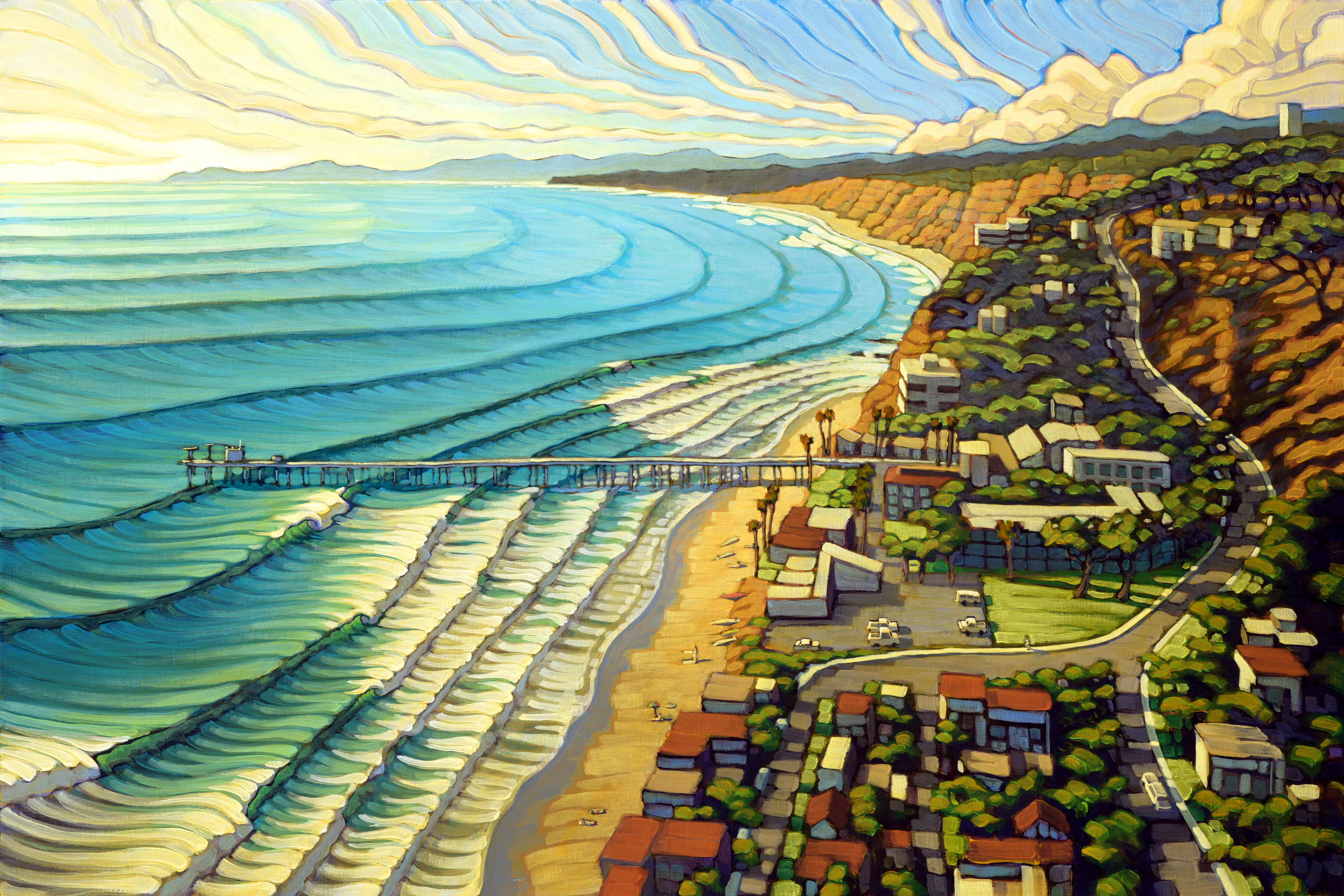 Matt Beard's22nd Annual Luau and Legends of Surfing Invitational featured event artwork will be sold at auction at the Luau.