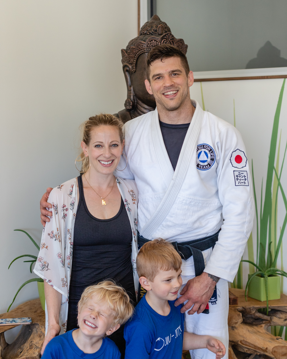 My Family. Katie McClelland, my wife, is the owner of De La Sol Yoga Studios.