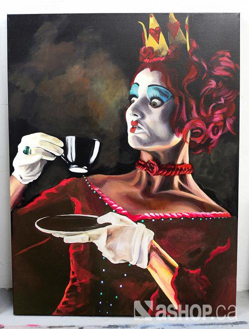 Ashop-A'shop-Graffiti-street-art-Lacey-Leila-canvas-acrylique-tea-time-Hotel-des-spectacles-black-pink-couronne-gloves.jpg