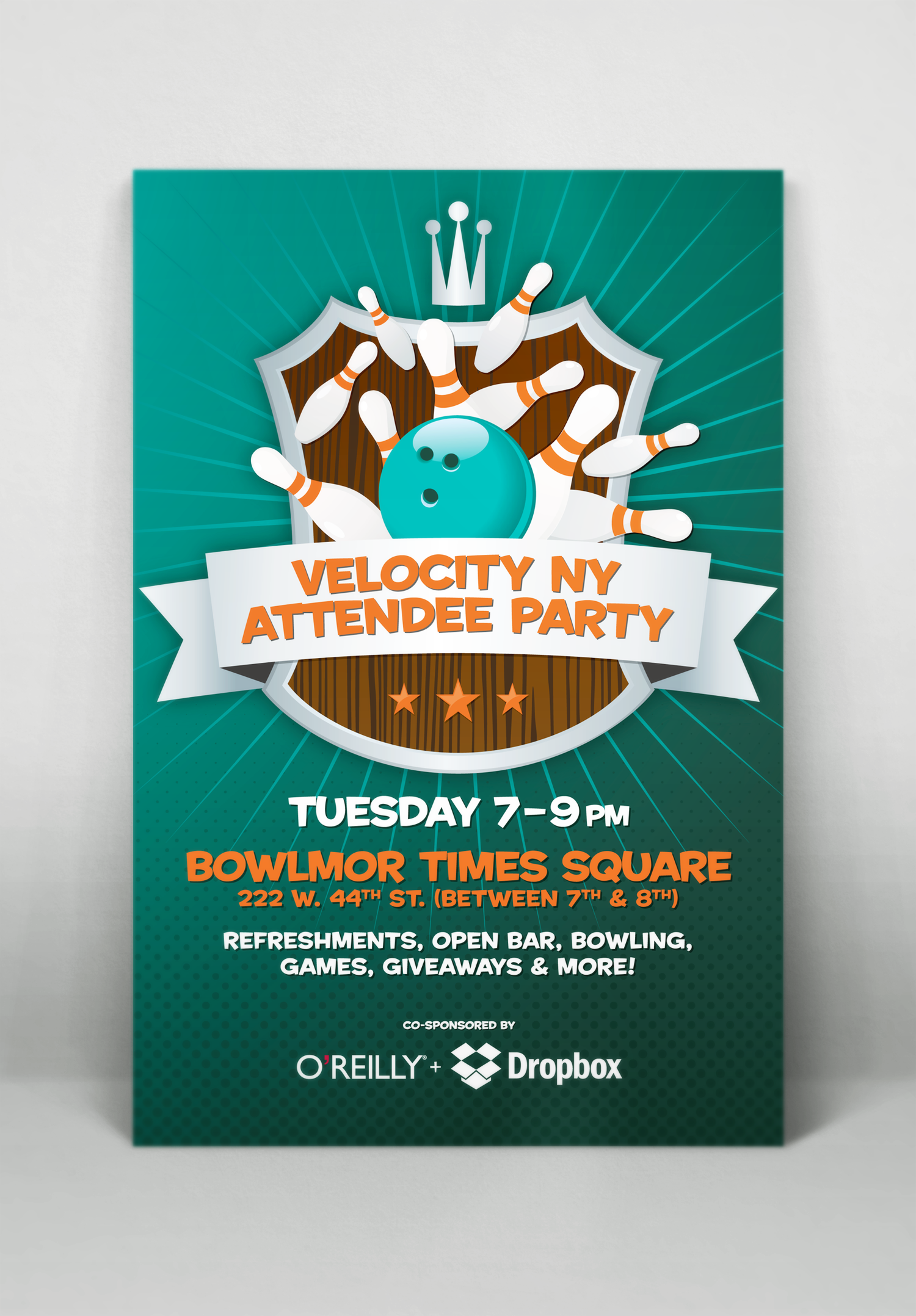 "Velocity Conference ""Bowlmor"" Event Poster"