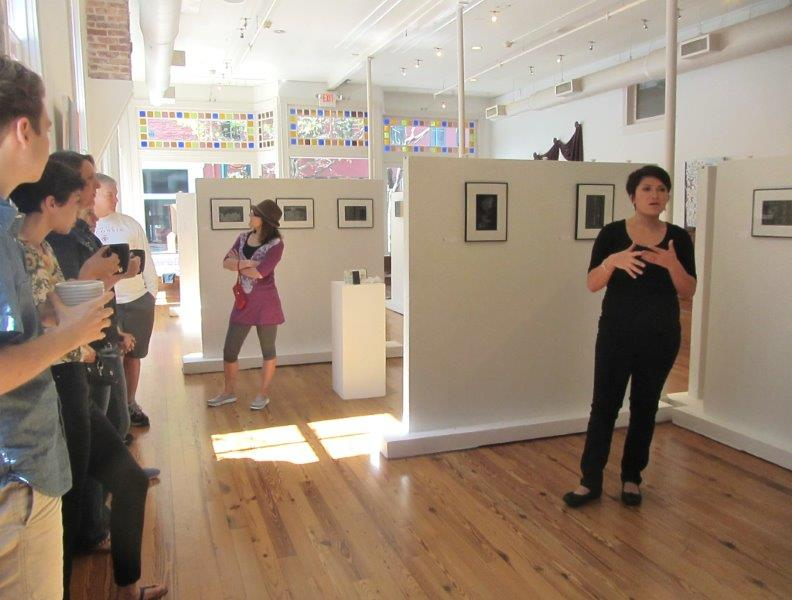 A gorgeous day to look at work in this bright, open gallery!  Photo credit: Ken Naigus