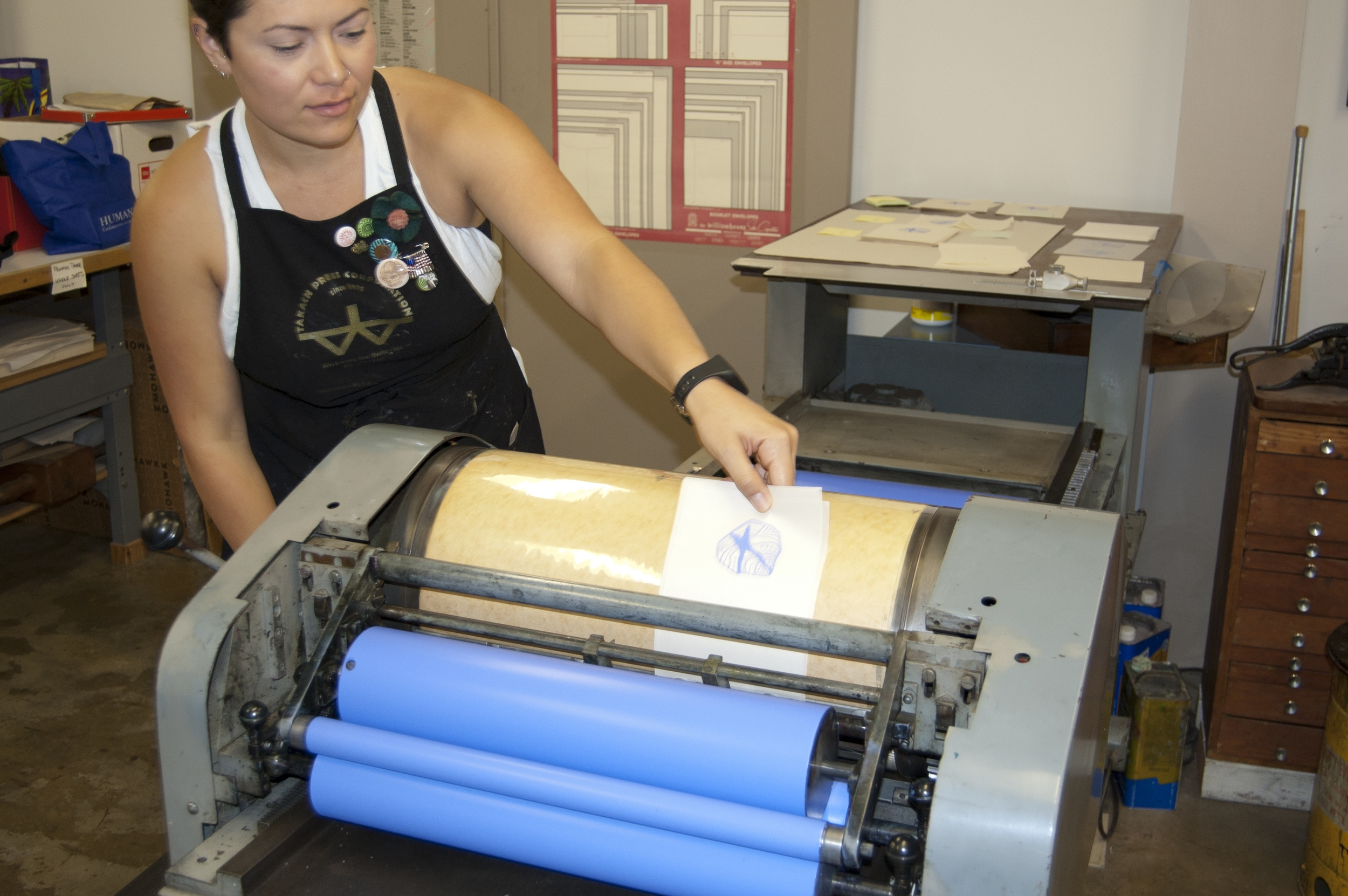 Printing one of the images for our book!