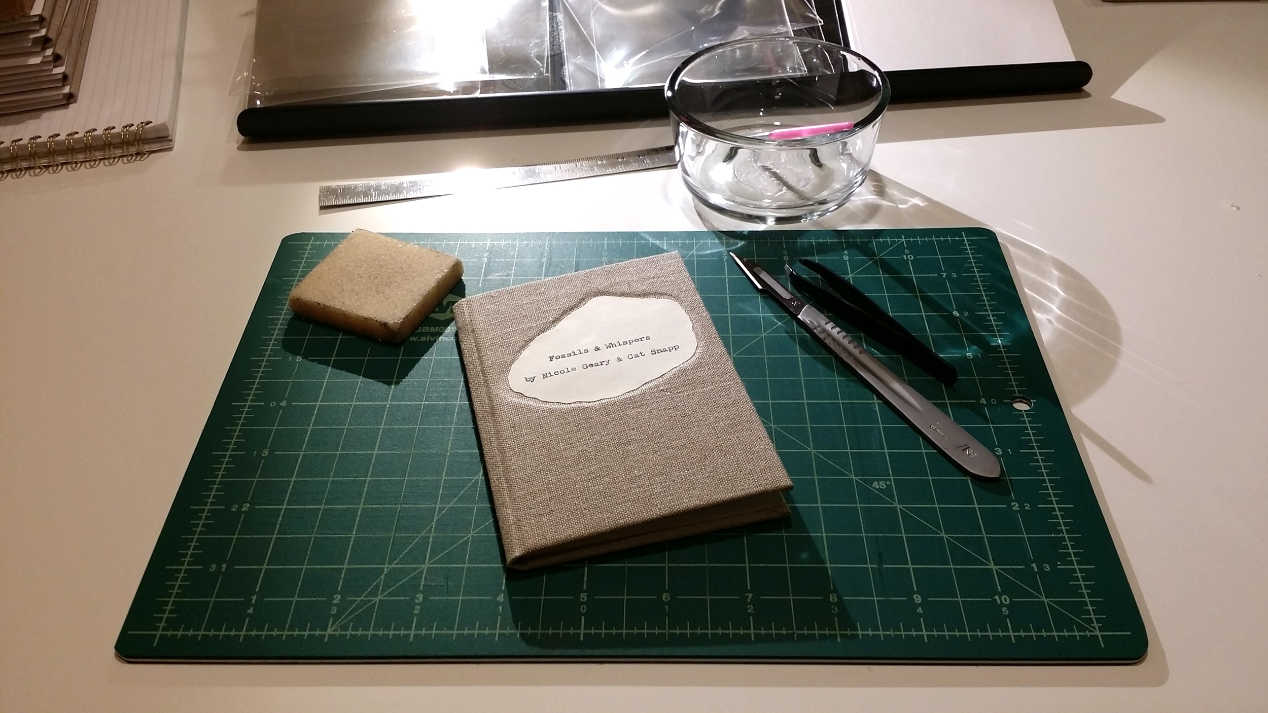 A quiet conclusion to finishing Fossils & Whispers: I finished the edition in December 2015 in my home studio.