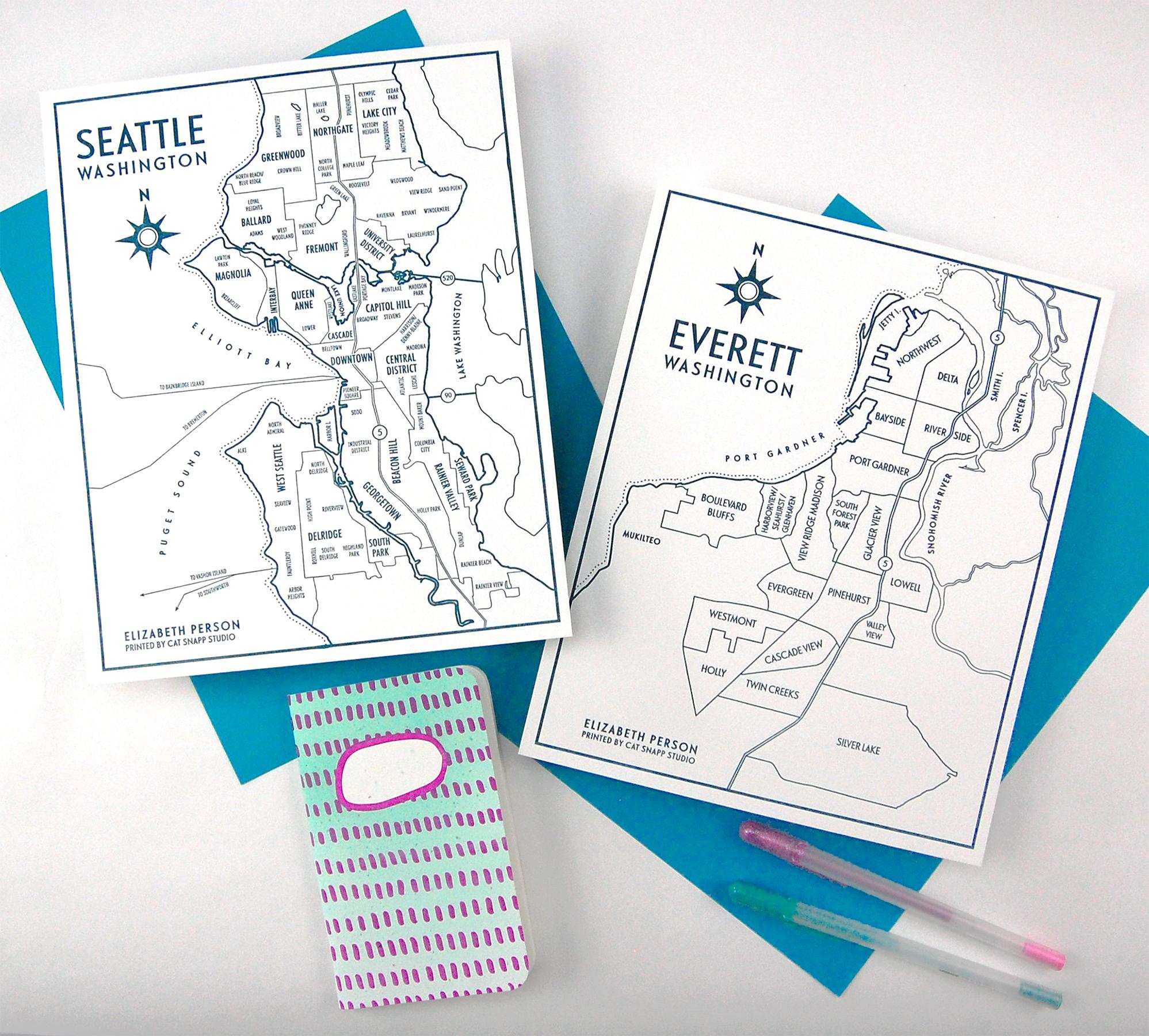 Cat Snapp Studio Elizabeth Person Seattle Everett Letterpress