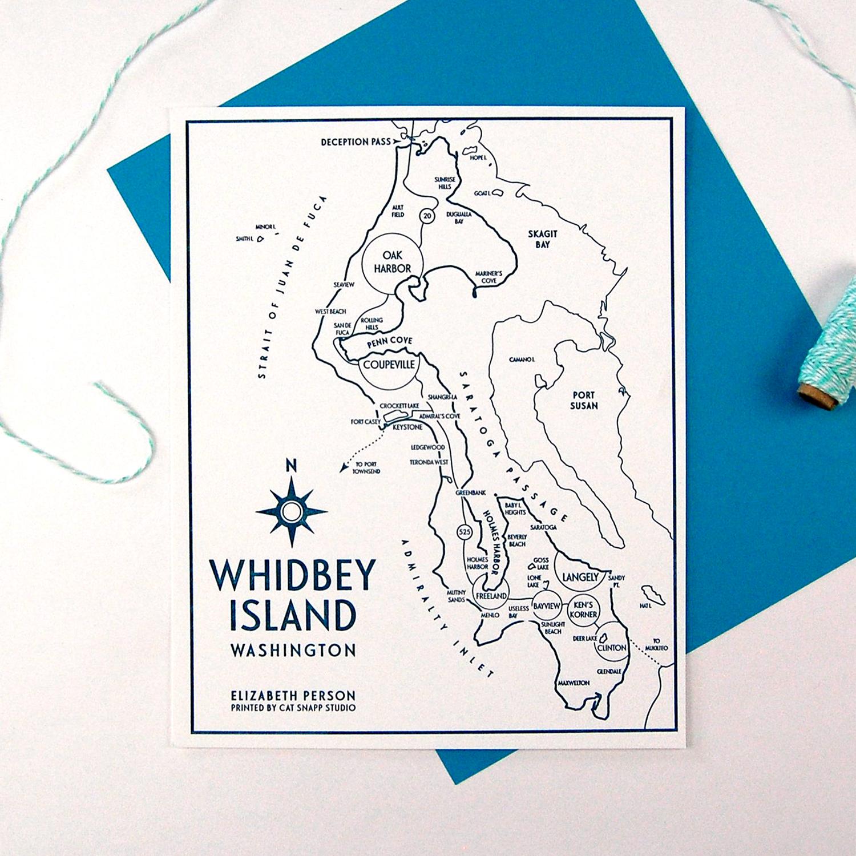 Cat Snapp Studio Elizabeth Person Whidbey Island Letterpress