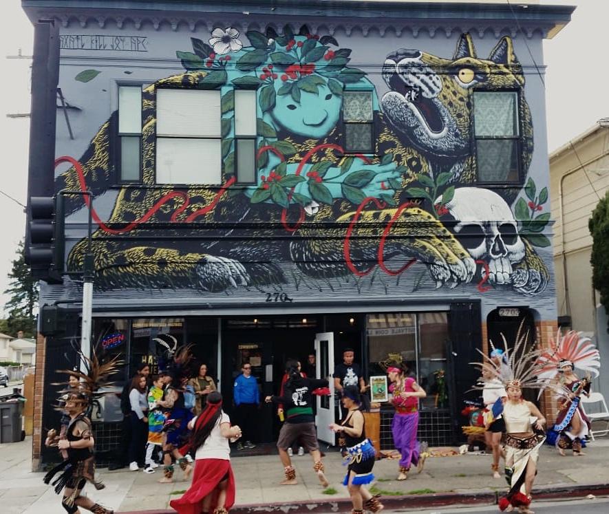K.Choy,  Spirit and Jaguar  (collaboration with Mazatl) : Oakland, California, Photo Credit: Hasta Muerte