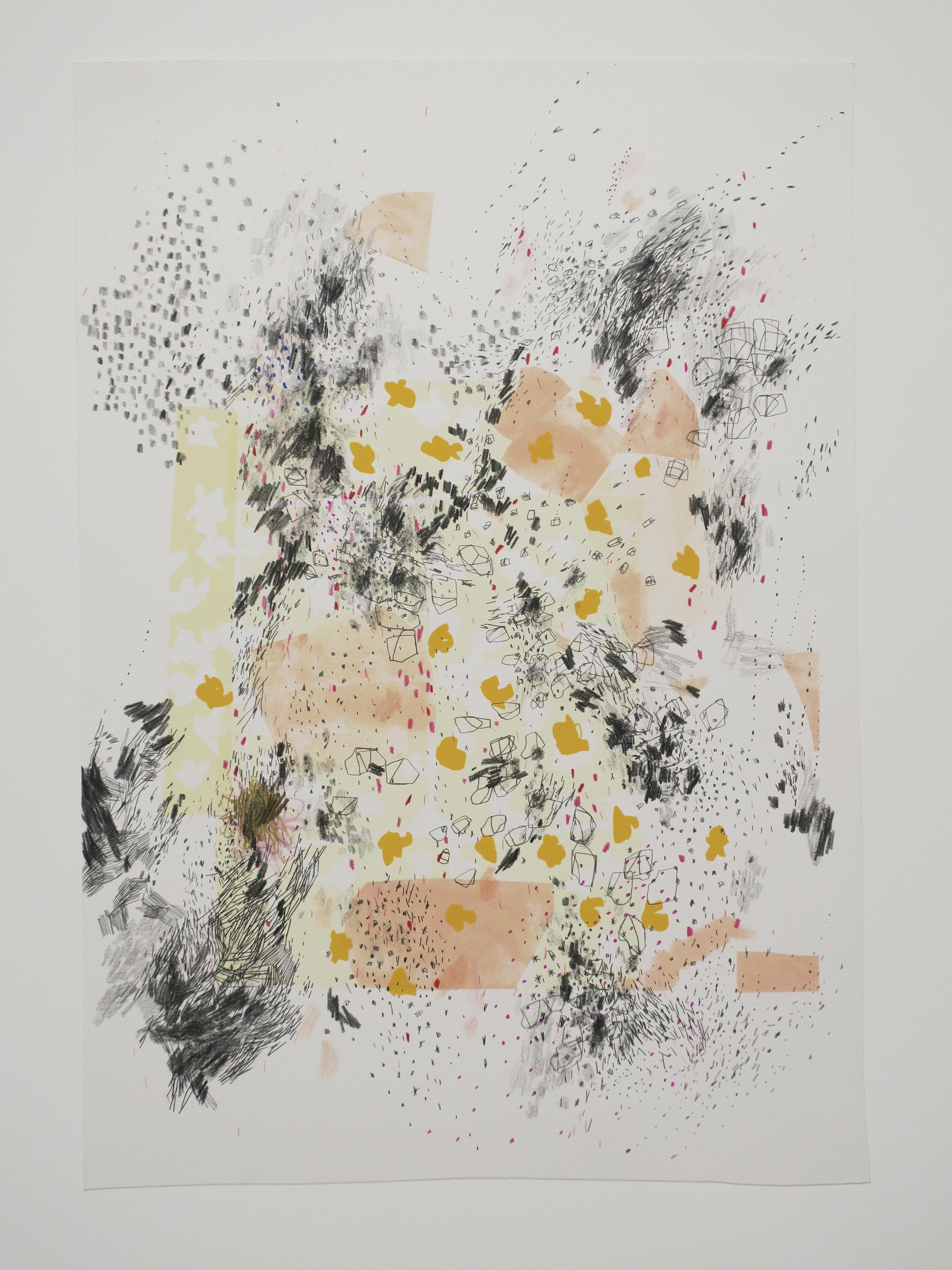 Diana Behl, in progress drawing