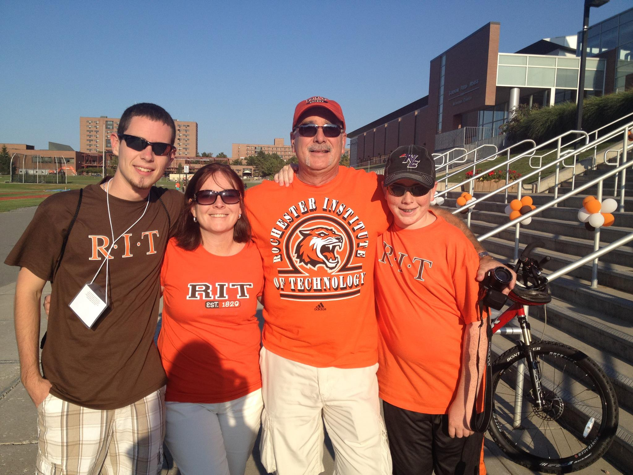 My family and I on the day I moved into RIT.