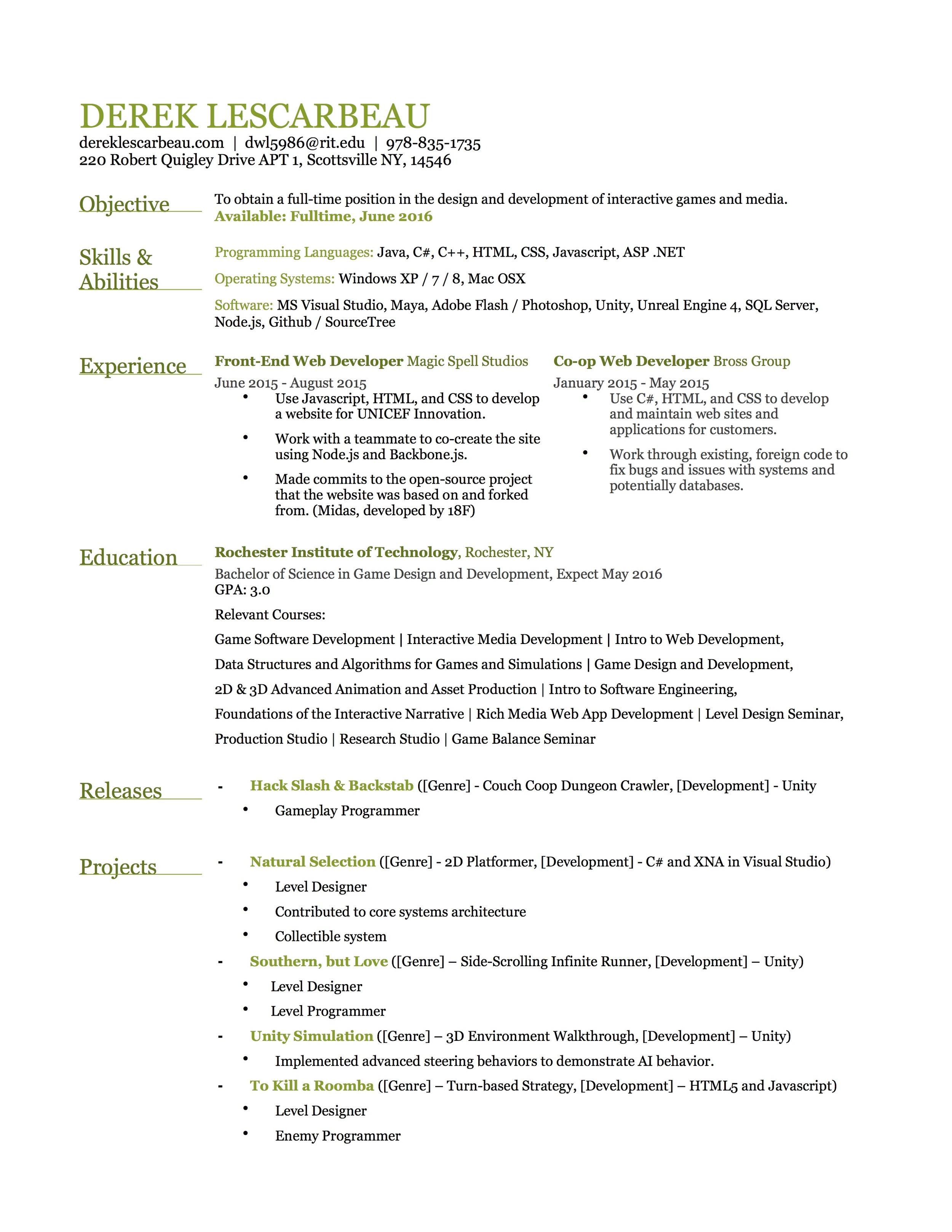 Resume JPEG