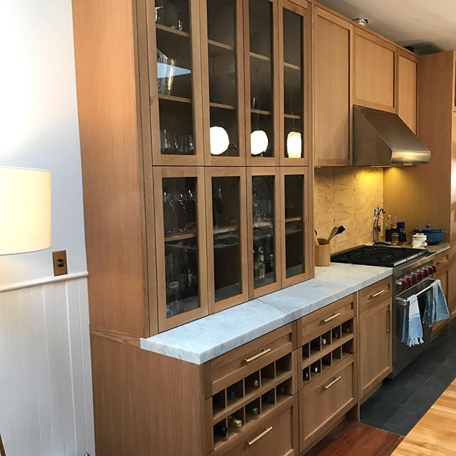 Mostly complete, better photos to come I hope! #brooklynkitchen #brooklynny #whiteoak #kitchen #interior #interiordesign