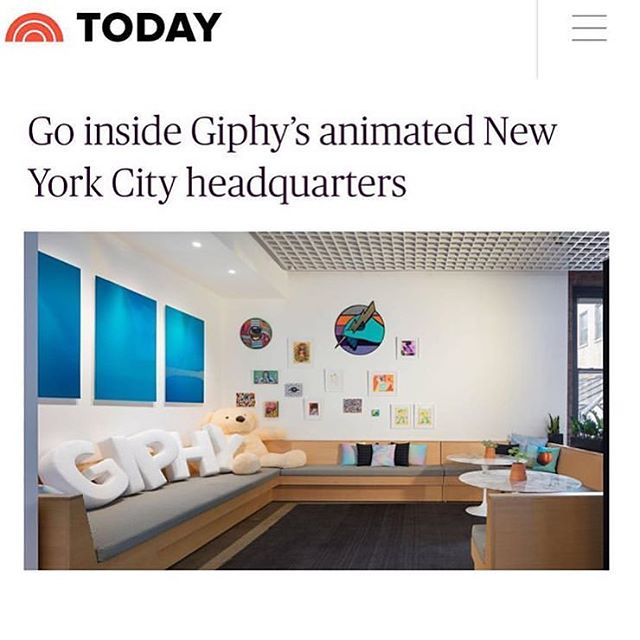 So great to see this on the @todayshow the other day! (Link in bio) Such an exciting project and fun place to be. Thanks @giphy @architecture.af