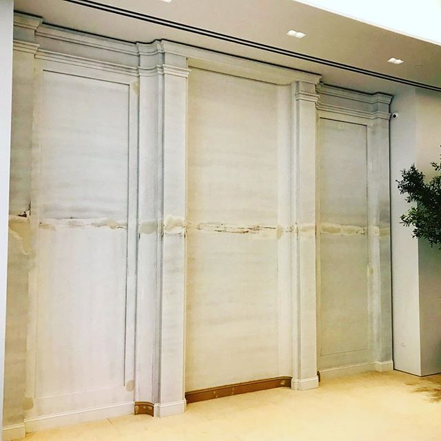 Just wrapped this monster wall. 13'x17' can't wait to see it all painted up! #architecturalmillwork #nyc @mckinnonandharris thanks @architecture.af