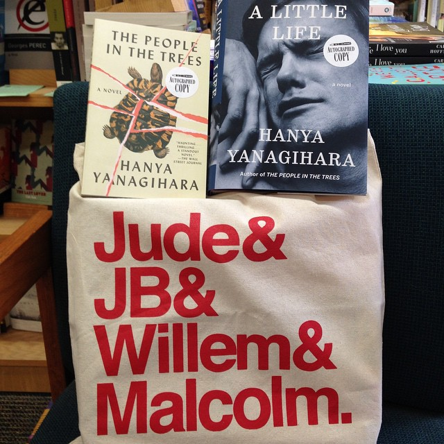 "Thank you so much to the supremely stylish, talented and sweet Hanya Yanigahara for sending us this ""A Little Life"" tote bag! @hanyayanagihara @doubledaybooks #alittlelife Now excuse us while we geek out!"