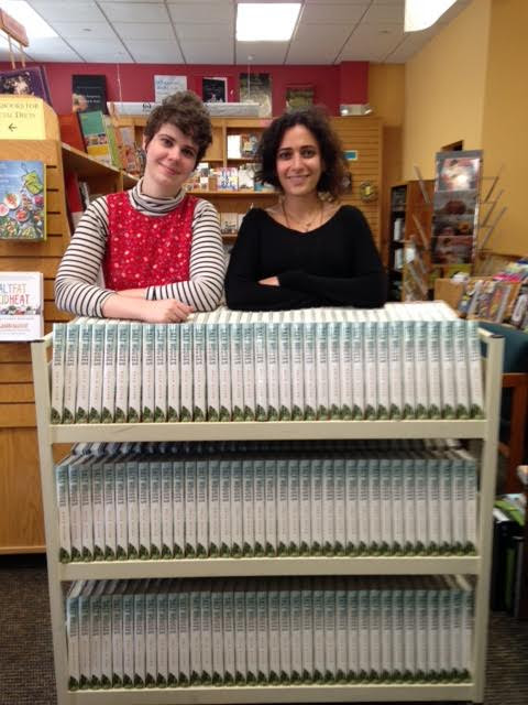 First Editions Club director Margaret Sweeney with author Hala Alyan