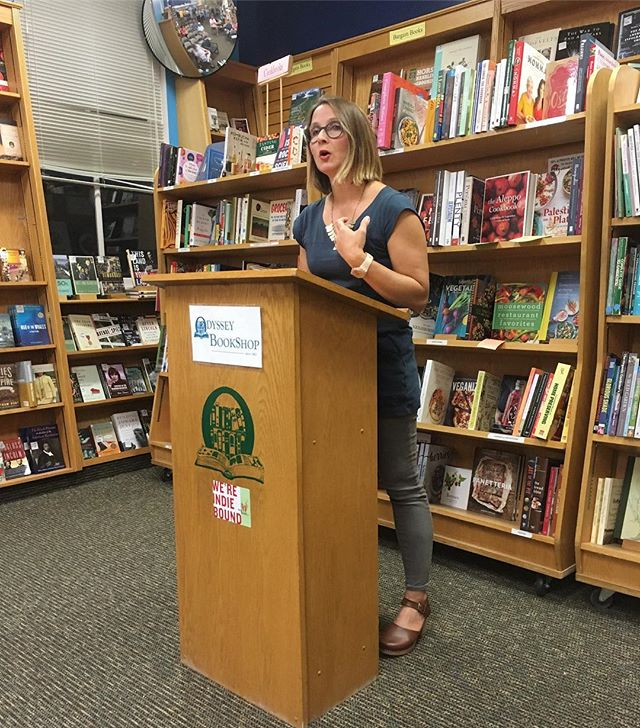 "Eleanor Henderson is here tonight reading from our October selection, ""The Twelve-Mile Straight"" !!"