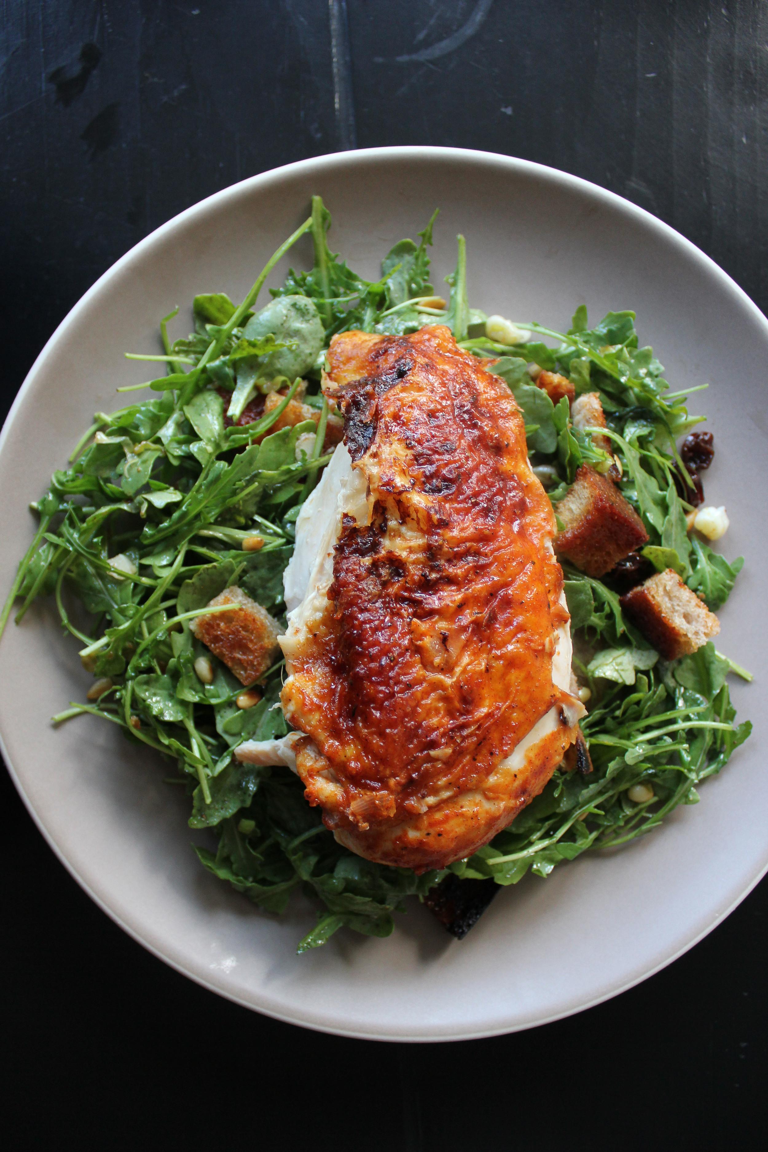 The Standard Grill's million dollar chicken + Zuni Cafe bread salad - Fancy Casual