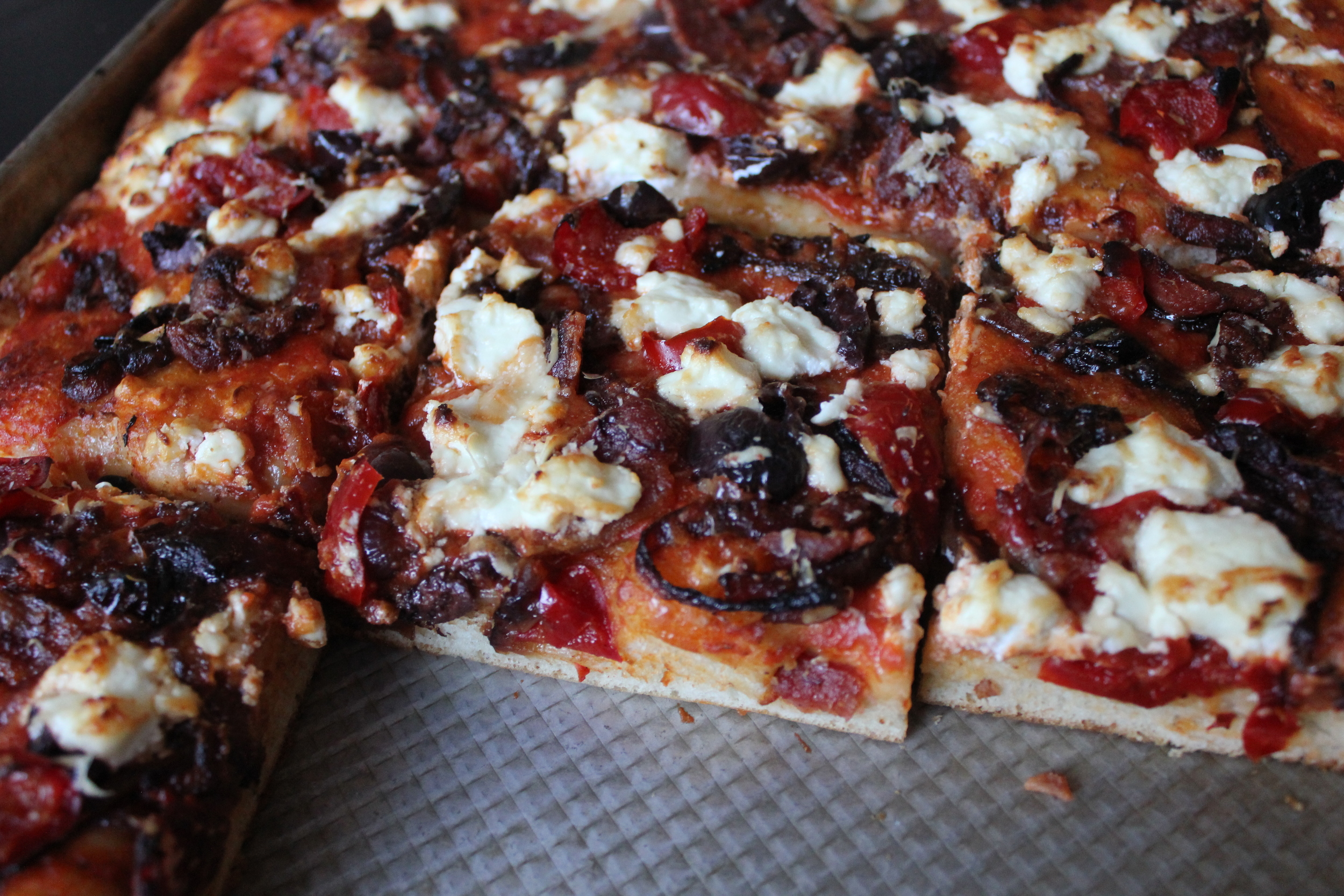 Homemade Grandma Pizza Pie from Bon Appetit - www.fancycasual.com