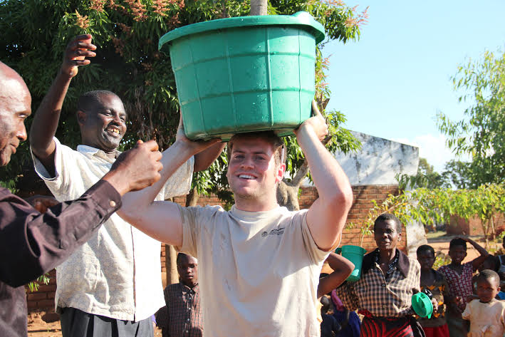 The picture above is of Kelsey's Engineers Without Borders Chapter members from their experience in Malawi.