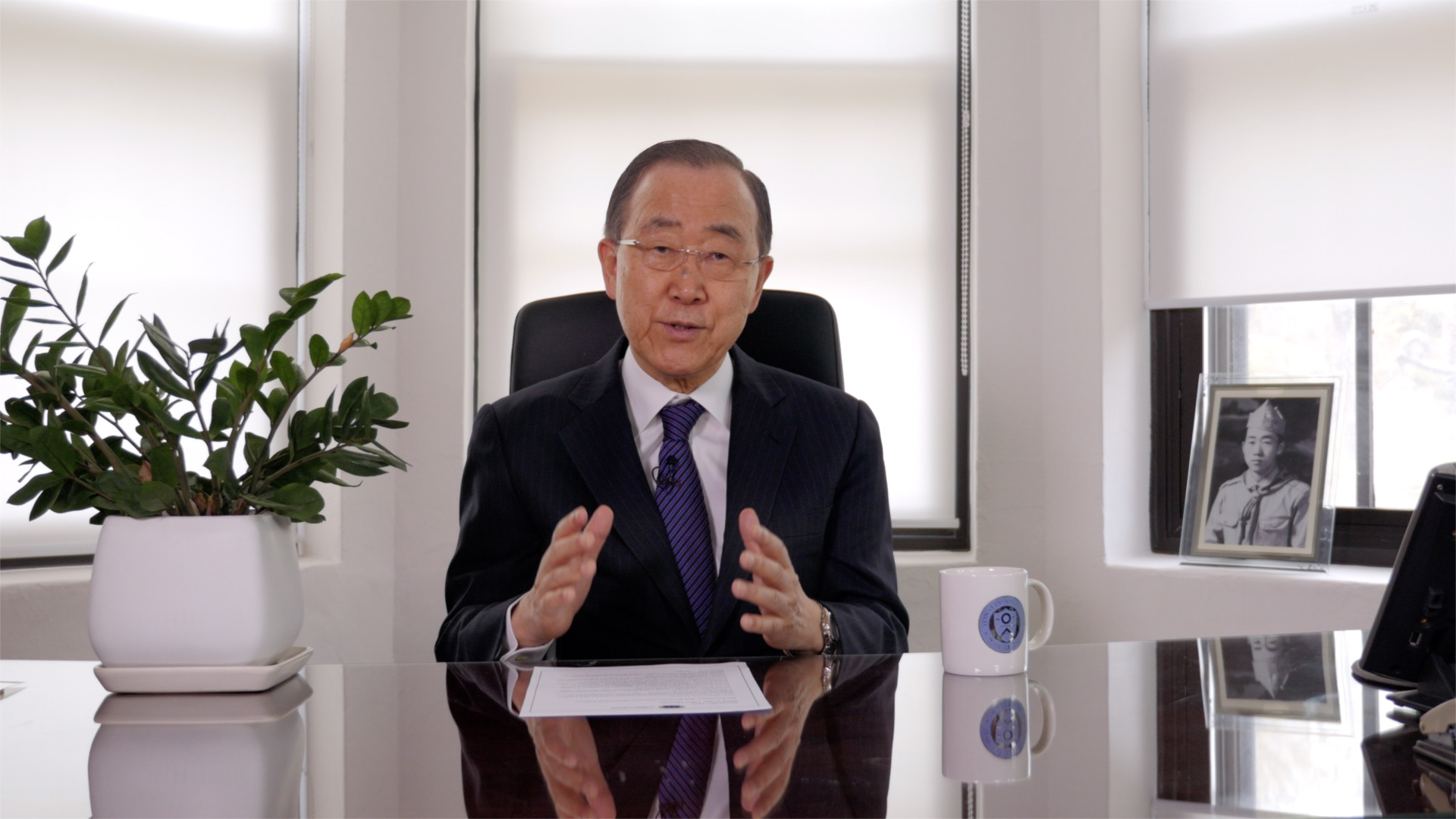 Ban Ki-moon addresses Millennium Fellows