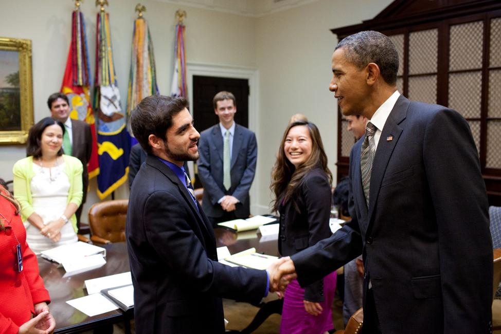 Sam Vaghar meeting with President Barack Obama at the White House