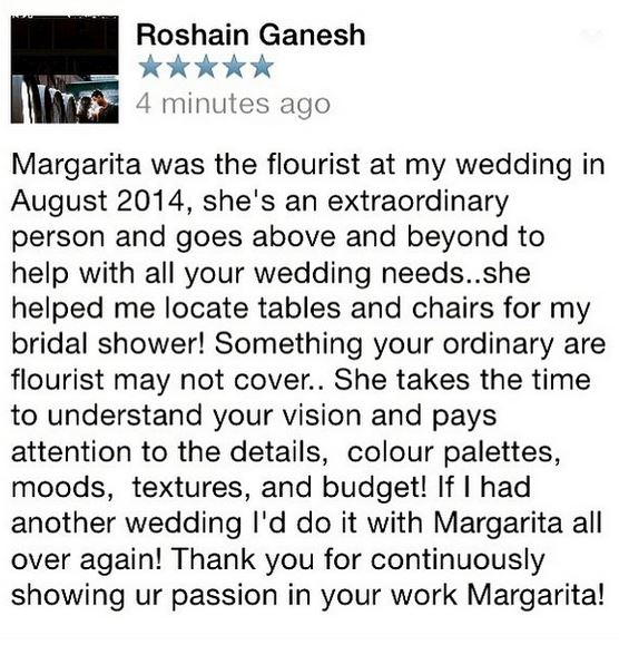 And to end the week, a heart-warming Love Note from one of my amazing clients, Roshain Ganesh.