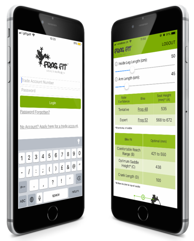 Find the right bike fit for your child using the FrogFit app from Frog Bikes.