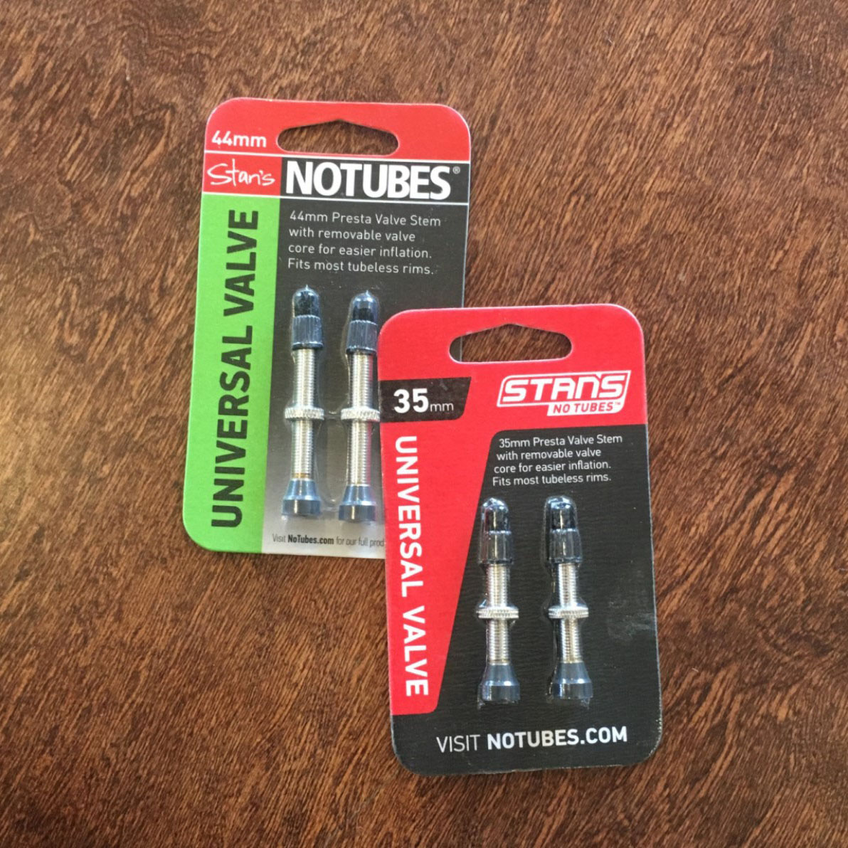 Stans No Tubes tubeless tire valve stems