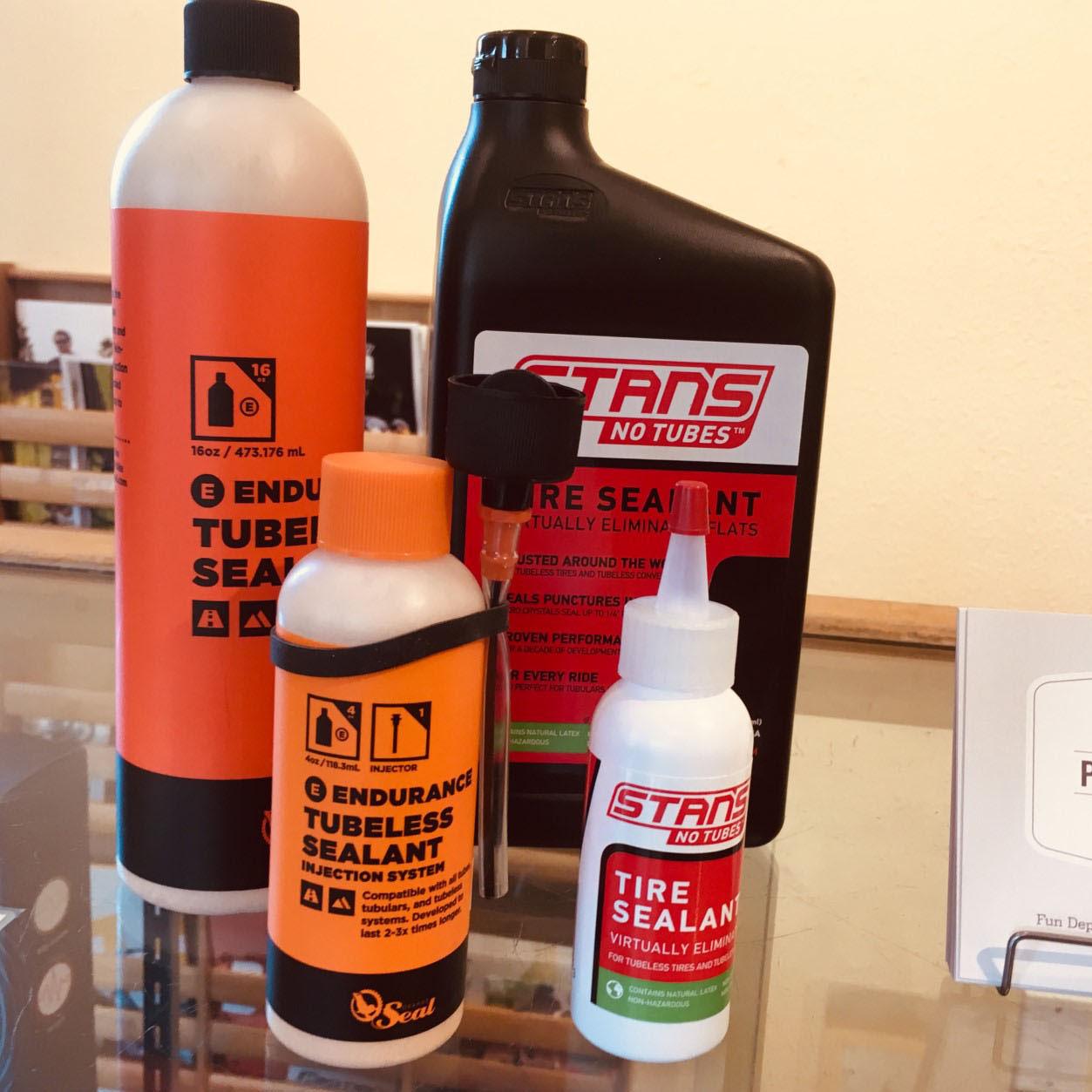Stans No Tubes and Endurance tubeless tire sealants