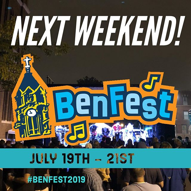 Are you ready for Ben Fest 2019?! Stop by next weekend for live music, great food, cool drinks, and more. #benfest2019 #streetfest #festival #musicfest #chicagofestival #chicagofest #livebands #northcenterchicago #northcenter #ravenswoodchicago #ravenswood #freeinchicago #chicagoevents #chicagoconcerts #stbenschicago