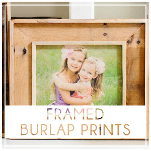 Print your photos directly on to high quality burlap. The subtle textures and color of the burlap combine with your image to create a beautiful and unique piece. Prices start at $55.