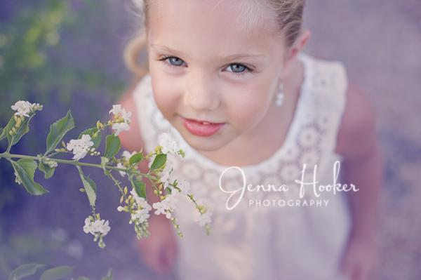 5 year old portrait flowers