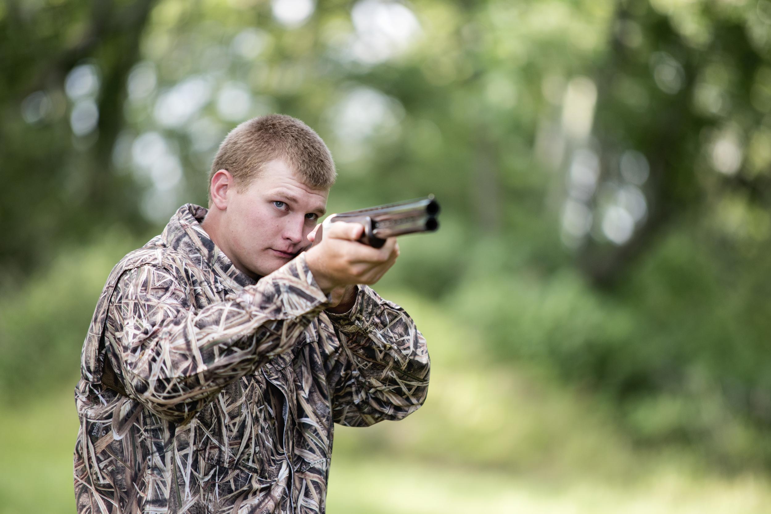 senior boy photos with gun