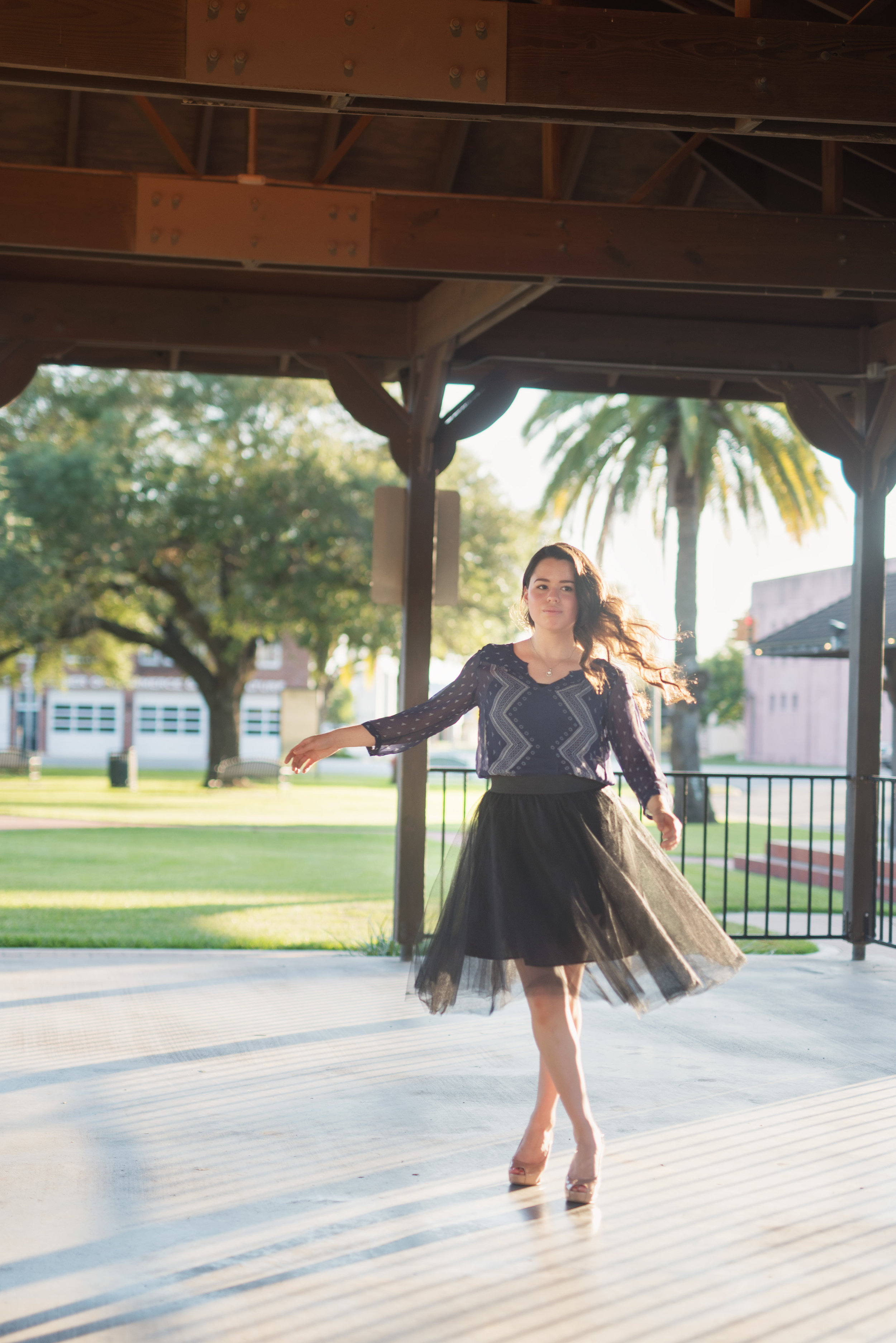 dancing senior photography