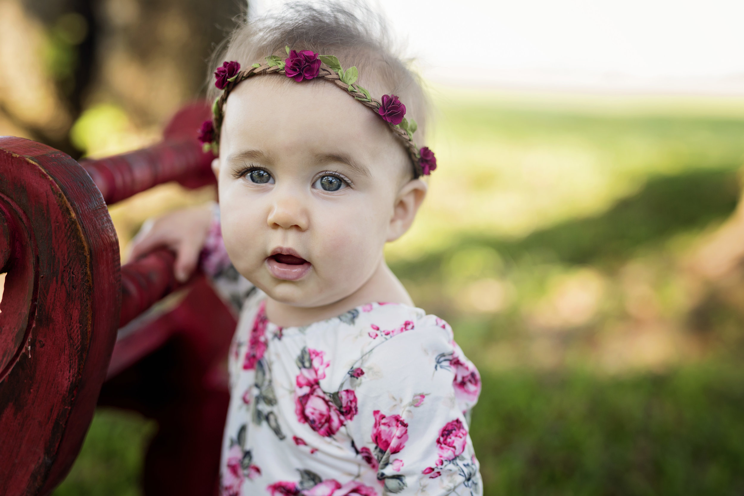 9 months old outdoors photo
