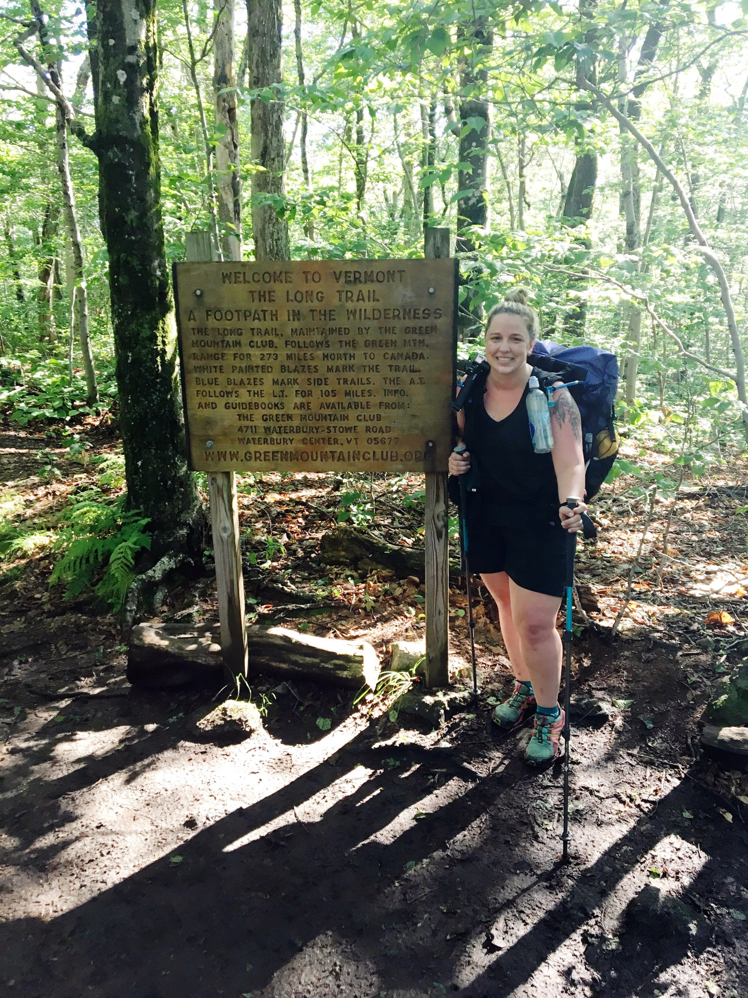 July 26th, 2017  MA/VT Border at the start of The Long Trail