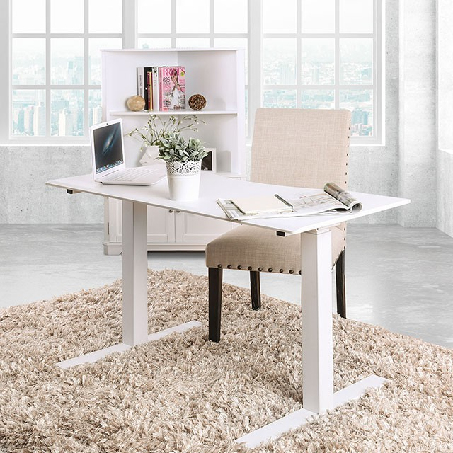 FACM-DK6454L-WH  Contemporary Style  Adjustable Height  USB & Power Outlet  Metal & Others*  White  AVAILABLE IN BLACK  GRAY/WHITE