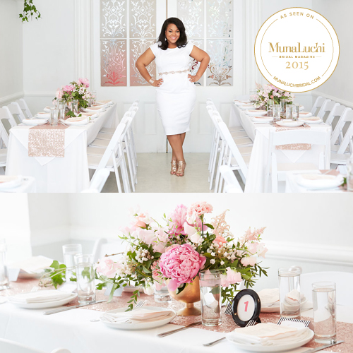 "My ""La Vie en Rose"" bridal shower is my favorite post from my ""Wedding Planner Getting Married"" series.     Click the photo to see my feature on  Munaluchi Bride ."