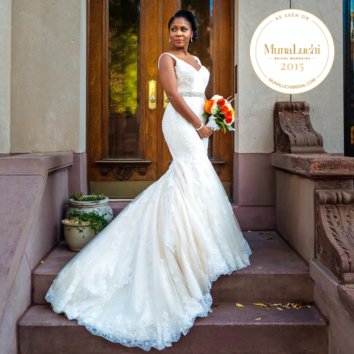 This autumn wedding was full of rustic glam and Brooklyn charm.     Click the photo to see our feature on  Munaluchi Bride .
