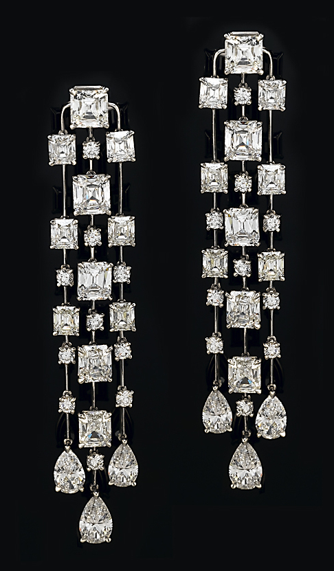 Victorian Cut Diamond Earrings
