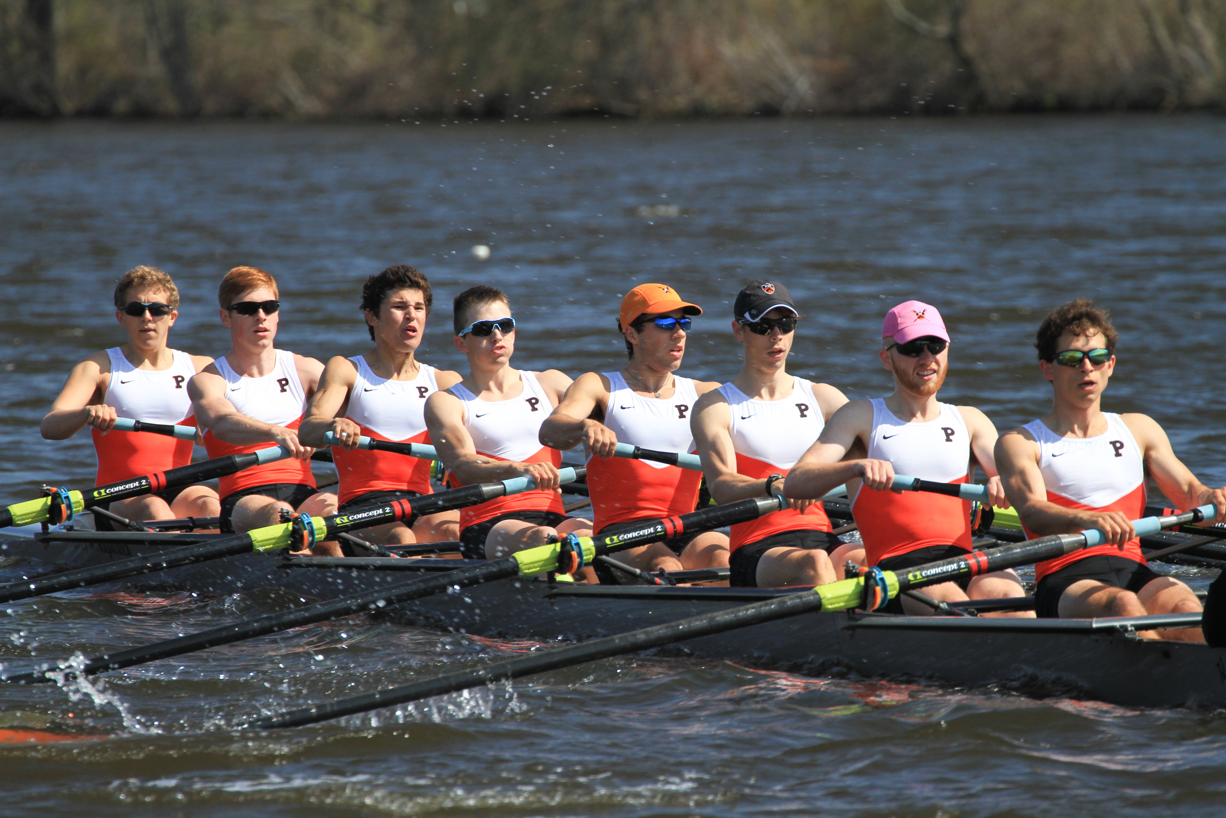 The lightweight men's 3V races to victory over Georgetown and Penn