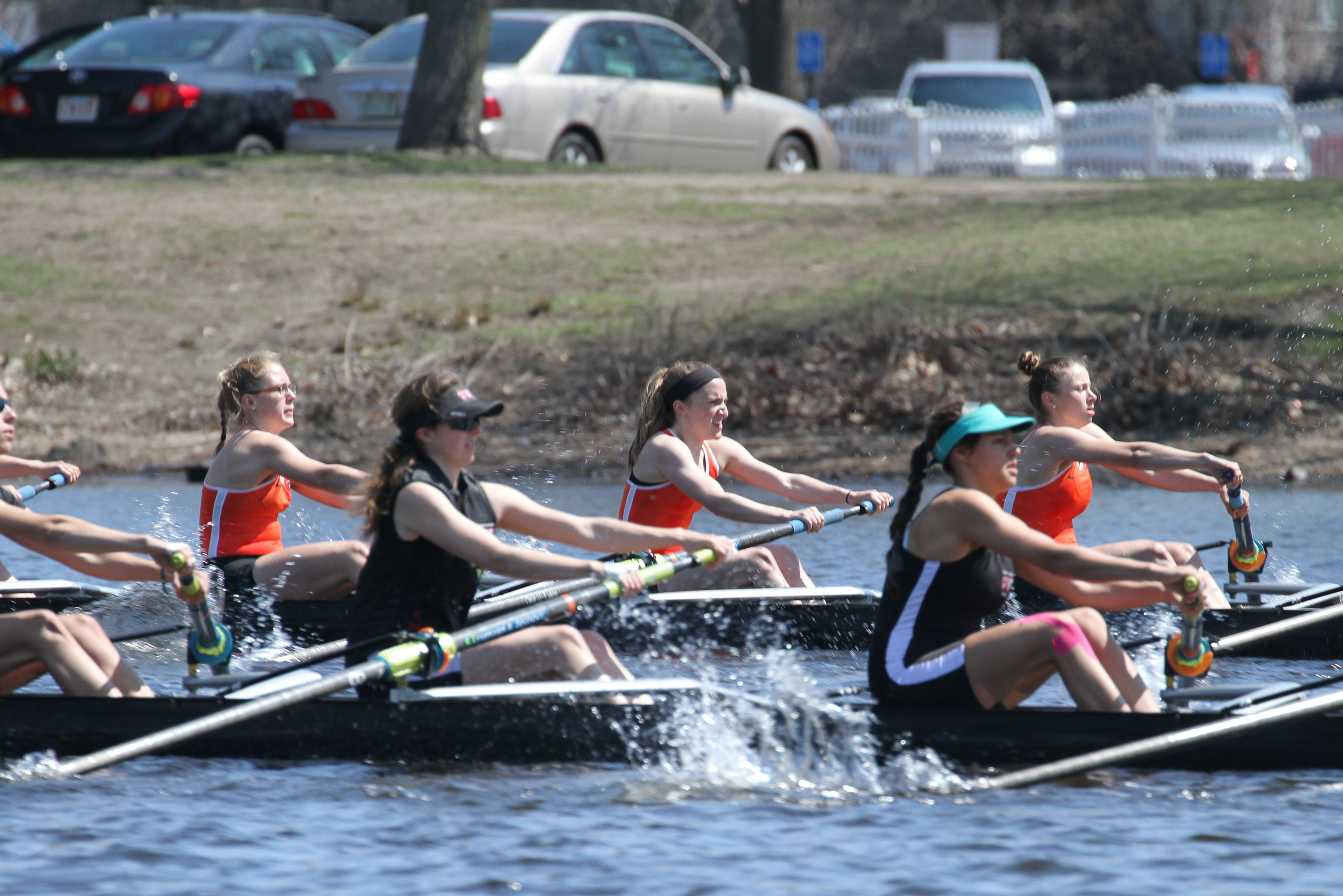 The Princeton 3V races a 1000m piece against Radcliffe