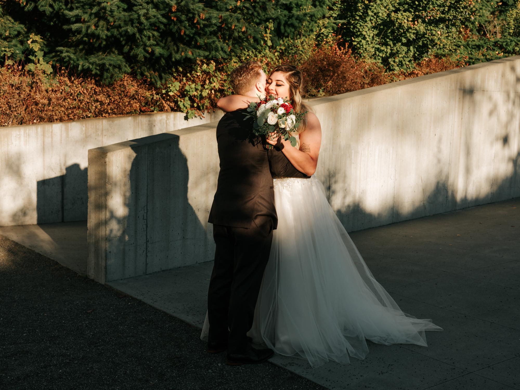 The Brown Wedding - Venue: The Edgewater HotelDJ:Bugsie ProductionsCake: Morfey's CakeDress:Romashka Bridal / Maggie SotteroBridesmaid Dresses:Bill Levkoff