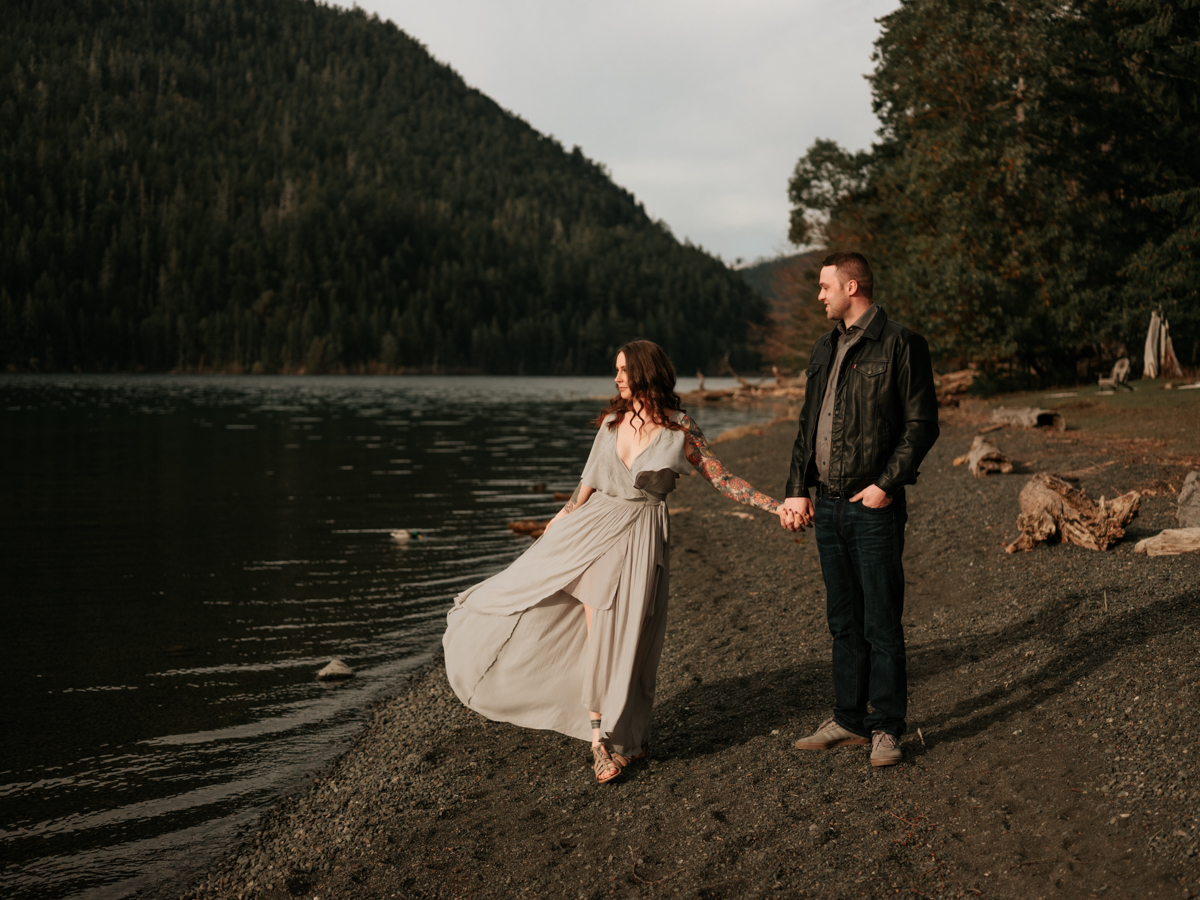 Stolen Glimpses Seattle Wedding Photographer Lake Crescent Engagement Session 30.jpg
