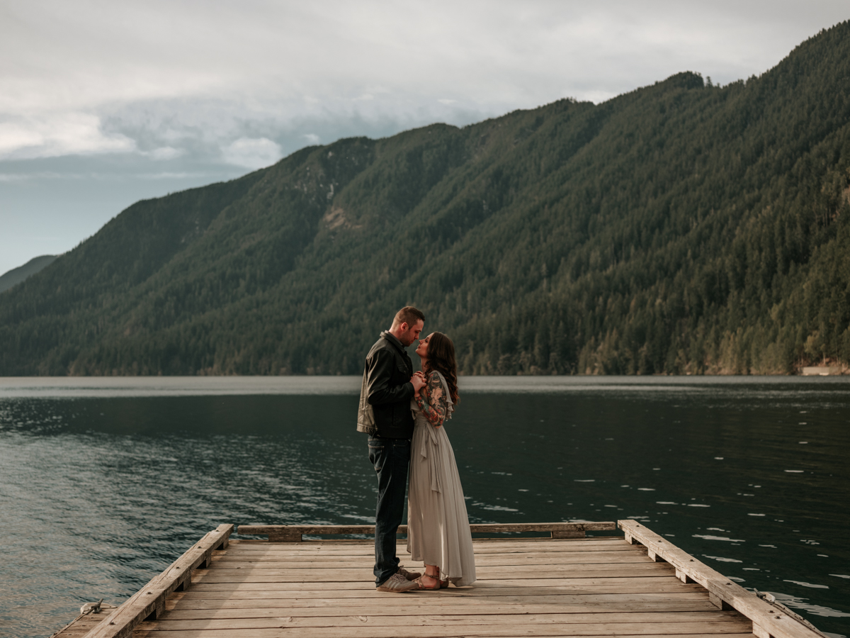 Stolen Glimpses Seattle Wedding Photographer Lake Crescent Engagement Session 33.jpg