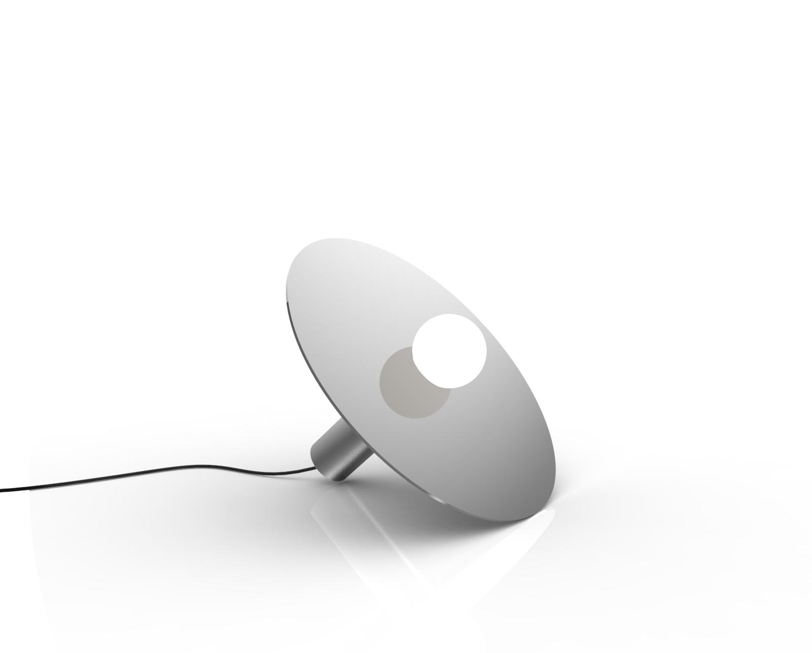 ORBITA Floor lamp in brushed/polished stainless steel - Chiara Ferrari x Graye