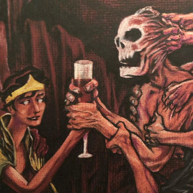 It's that time of the year guys and ghouls... what are you wearin' this All Hallow's Eve? . . . #halloween #spooks #ghouls #ghosts #witches #goblins #vampires #warewolves #skelatons #wine #allhallowseve #thegrowlers #fullblownpossession #subpop #illustration #tripplamkins