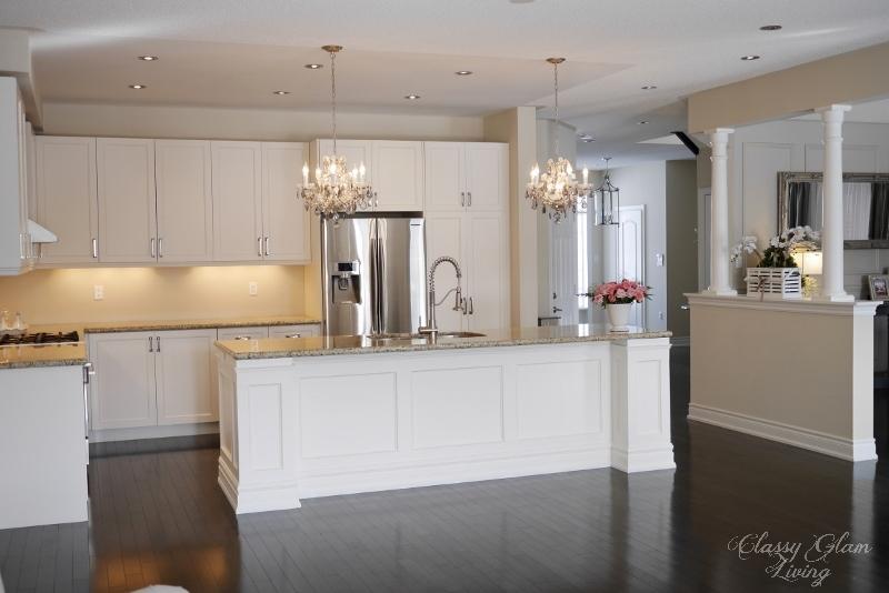 DIY kitchen island makeover | Classy Glam Living