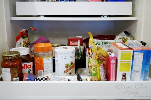 DIY Slide out pantry shelves | Classy Glam Living