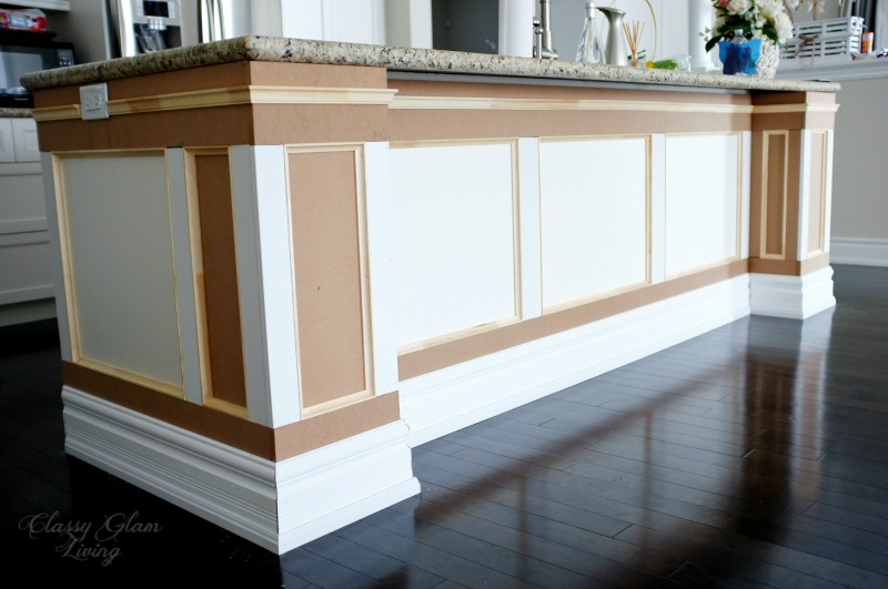 DIY Kitchen Island Makeover - Classy Glam Living